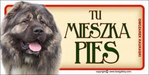 CAUCASIAN SHEPHERD DOG 01 - Tabliczka 18,5x9,5cm