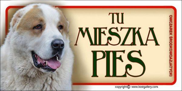 CENTRAL ASIAN SHEPHERD DOG 05 - Tabliczka 18,5x9,5cm