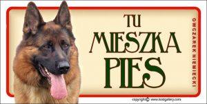 GERMAN SHEPHERD DOG 01 - Tabliczka 18,5x9,5cm