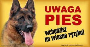 GERMAN SHEPHERD DOG 01 - Tabliczka 28x15cm