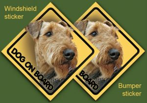 AIREDALE TERRIER 01 - Nalepka 11,5x11,5cm