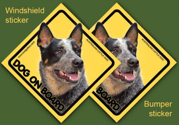 AUSTRALIAN CATTLE DOG 01 - Nalepka 11,5x11,5cm