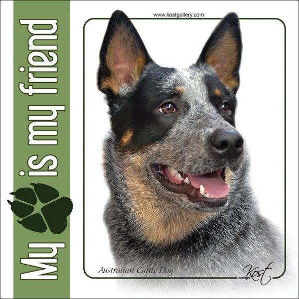 AYSTRALIAN CATTLE DOG 01 - Nalepka 14x14cm