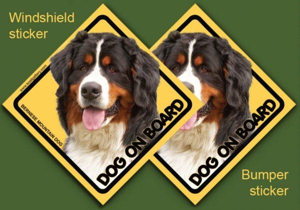 BERNESE MOUNTAIN DOG 01 - Nalepka 11,5x11,5cm
