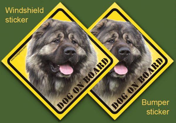 CAUCASIAN SHEPHERD DOG 01 - Nalepka 11,5x11,5cm