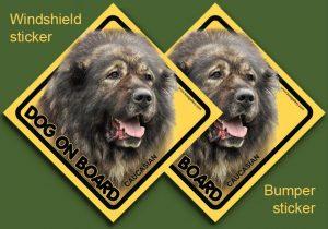 CAUCASIAN SHEPHERD DOG 02 - Nalepka 11,5x11,5cm