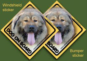 CAUCASIAN SHEPHERD DOG 03 - Nalepka 11,5x11,5cm