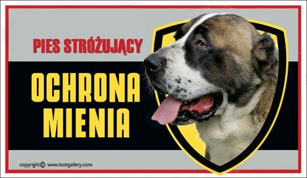 CENTRAL ASIA SHEPHERD DOG 01 - Tabliczka 25x15cm