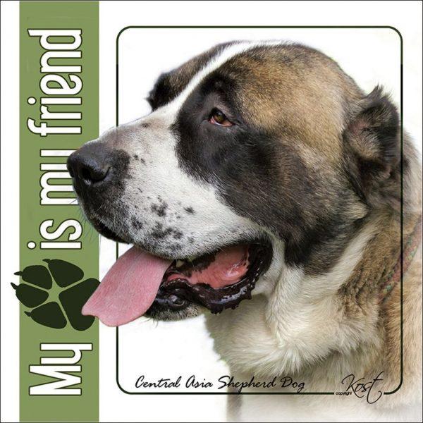 CENTRAL ASIAN SHEPHERD DOG 01 - Nalepka 14x14cm