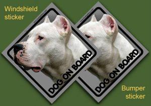 DOGO ARGENTINO 02 - Nalepka 11,5x11,5cm