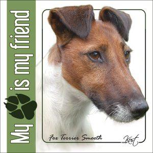 FOXTERRIER SHORT-HAIRED 01 - Nalepka 14x14cm