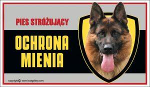 GERMAN SHEPHERD DOG 01 - Tabliczka 25x15cm
