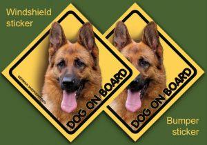 GERMAN SHEPHERD DOG 02 - Nalepka 11,5x11,5cm