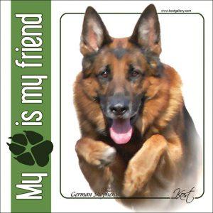 GERMAN SHEPHERD DOG 02 - Nalepka 14x14cm