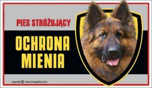 GERMAN SHEPHERD DOG 03 - Tabliczka 25x15cm