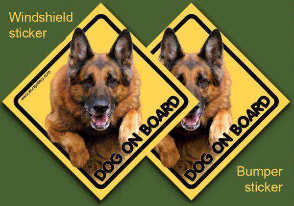 GERMAN SHEPHERD DOG 05 - Nalepka 11,5x11,5cm