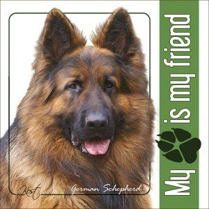 GERMAN SHEPHERD DOG 05 - Nalepka 14x14cm