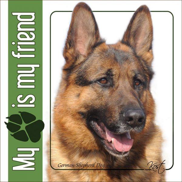 GERMAN SHEPHERD DOG 06 - Nalepka 14x14cm