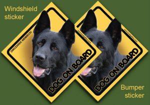 GERMAN SHEPHERD DOG 07 - Nalepka 11,5x11,5cm