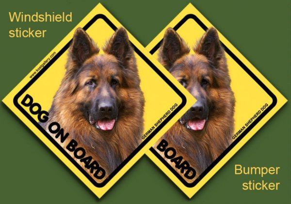 GERMAN SHEPHERD DOG LONG-HAIRED 01 - Nalepka 11,5x11,5cm