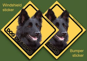 GERMAN SHEPHERD DOG LONG-HAIRED 04 - Nalepka 11,5x11,5cm