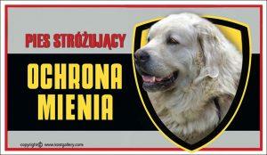 TATRA SHEPHERD DOG 01 - Tabliczka 25x15cm