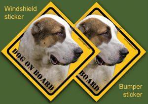 CENTRAL ASIAN SHEPHERD DOG 02 - Nalepka 11,5x11,5cm