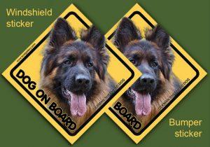GERMAN SHEPHERD DOG 11 - Nalepka 11,5x11,5cm