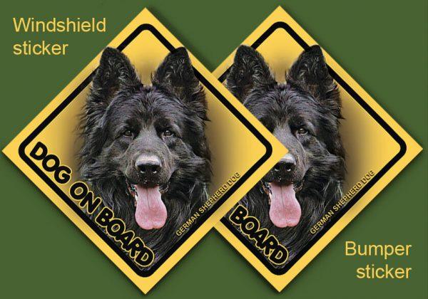 GERMAN SHEPHERD DOG 12 - Nalepka 11,5x11,5cm