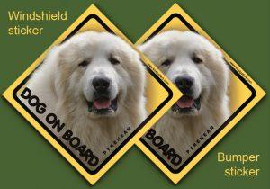 PYRENEAN MOUNTAIN DOG 02 - Nalepka 11,5x11,5cm