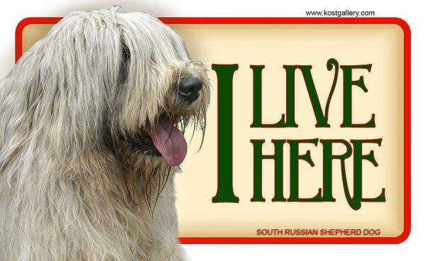 SOUTH RUSSIAN SHEPHERD DOG – Tabliczka 18x11cm